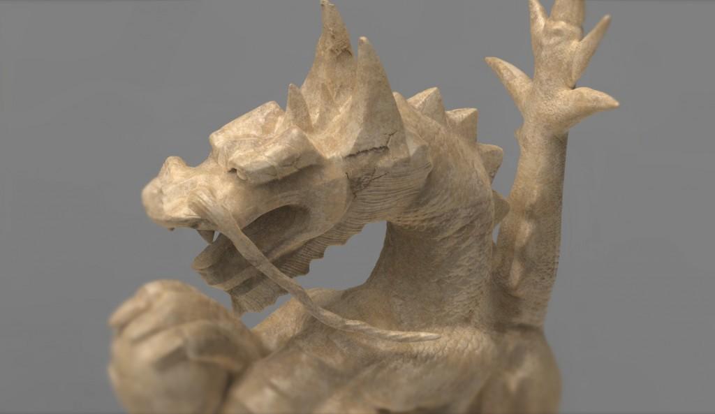 Details sculpture dragon