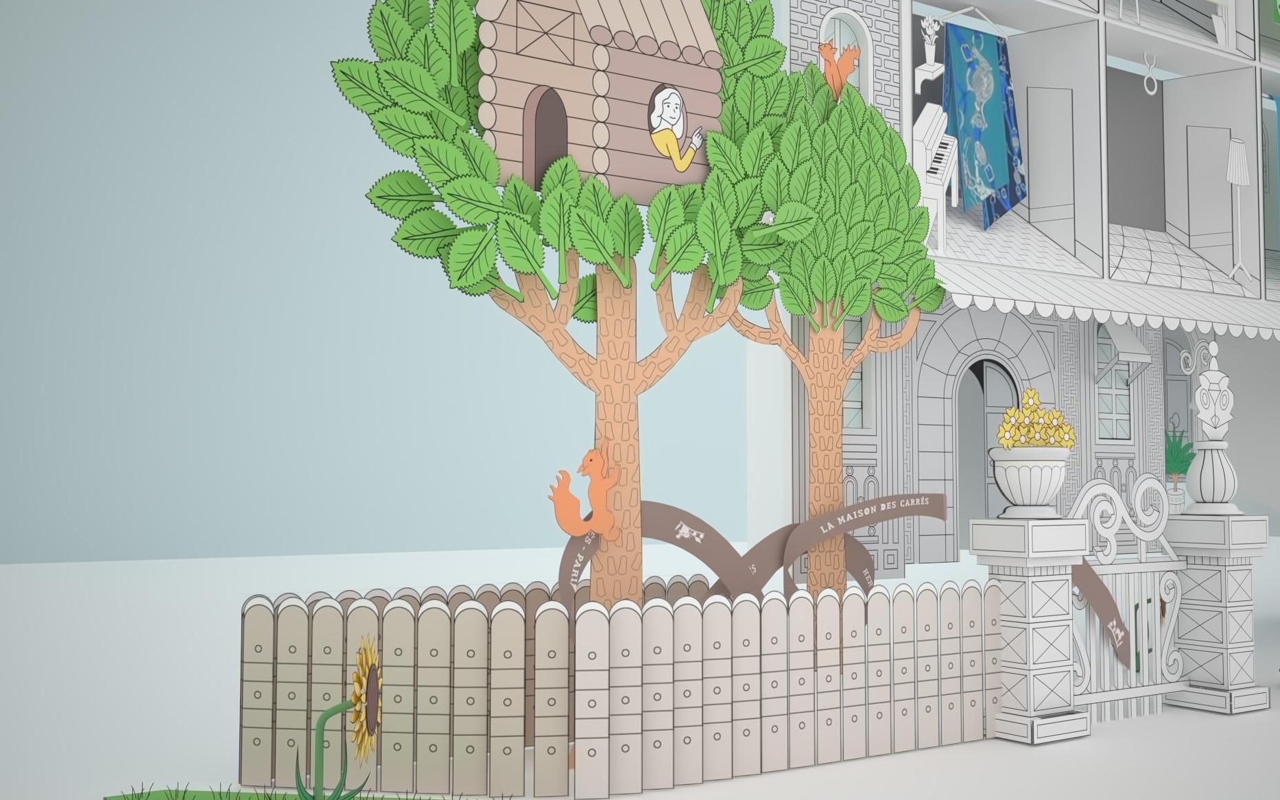f1d7aecf9b1 Modélisation et texturing de la Maison carrée Hermes en vue de la création  du teaser du site www.lamaisondescarres.com